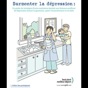 """Couverture du cahier à remplir """"Surmonter la dépression"""""""
