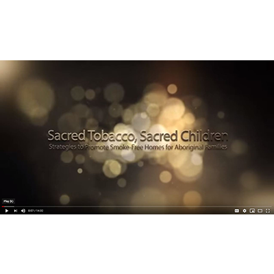 Screen capture of the Sacred Tobacco Sacred Children video with the title on Youtube