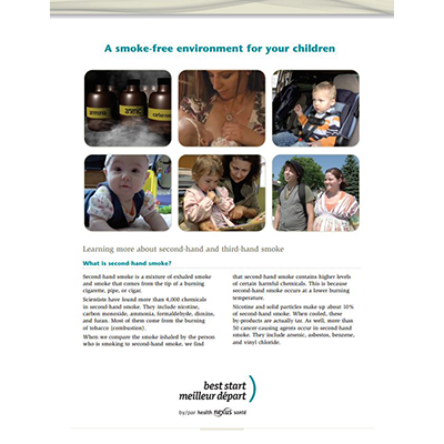 "First page of the ""A Smoke-Free Environment..."" handout"