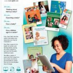 Screenshot of the english page of the bilingual flyer for parents