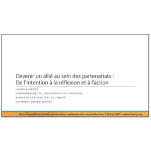 Diapo de titre de la présentation J31-F