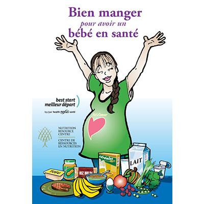 """Couverture de garde du livret """"Bien manger pour un bébé en santé"""""""